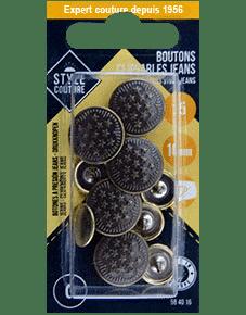 bouton clipsable jean