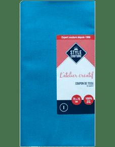 Coupon tissu bleu