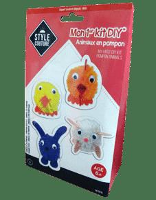 Kit pour fabriquer animaux en pompon