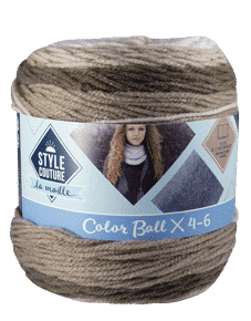 pelote de laine nuancé marron