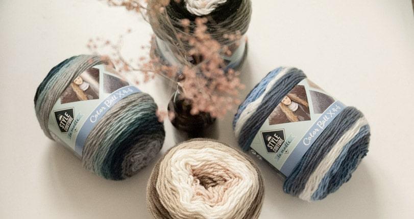 pelote colorée tricot